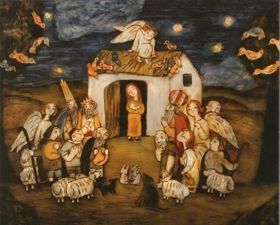 в предверии Рождества