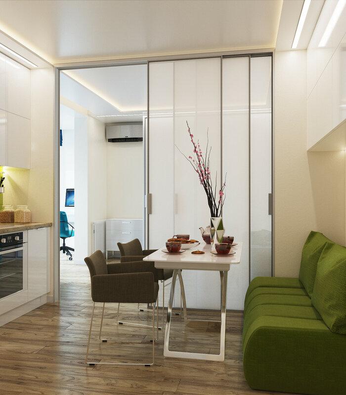 Интерьеры 1 комнатной квартиры 33 кв.м фото