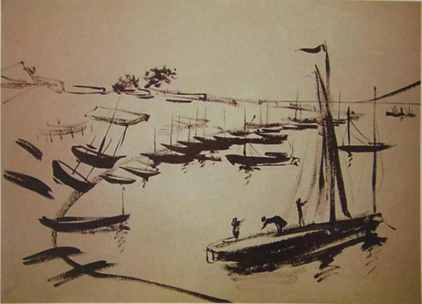 Берег с лодками. 1935 г.