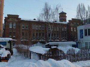 Это пожарная часть на ул. Пролетарской, 74. Построена в 1914 г., архитектор Зельман Клейнерман