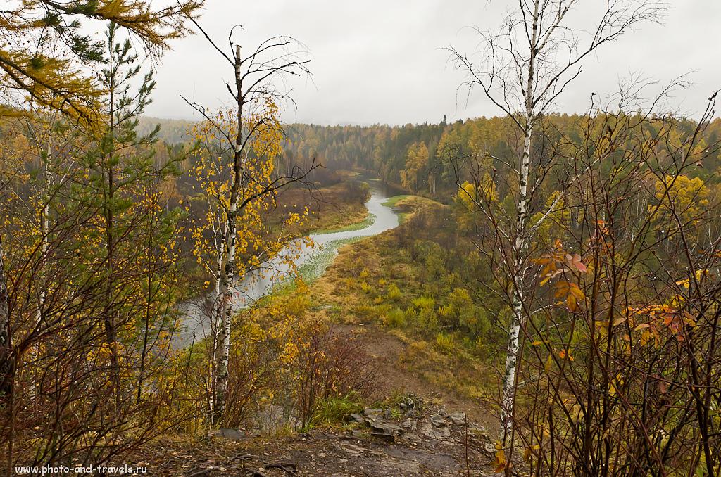 """Фото 3. Вид на реку Серга со смотровой площадки у скалы Светлая. Природный парк """"Оленьи ручьи"""""""