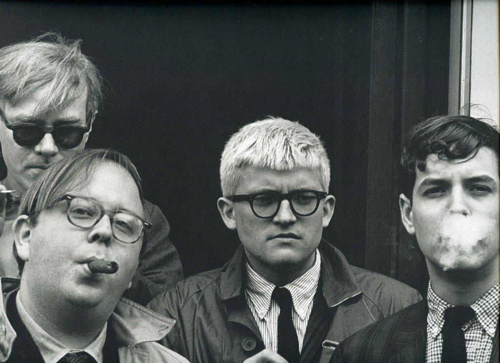 Dennis Hopper - Photographs from 1961 - 1967.Andy Warhol, Henry Geldzahler, David Hockney, and David Goodman, 1963