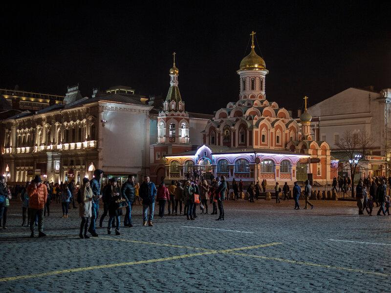 Красная площадь, собор  Казанской иконы Божьей Матери.