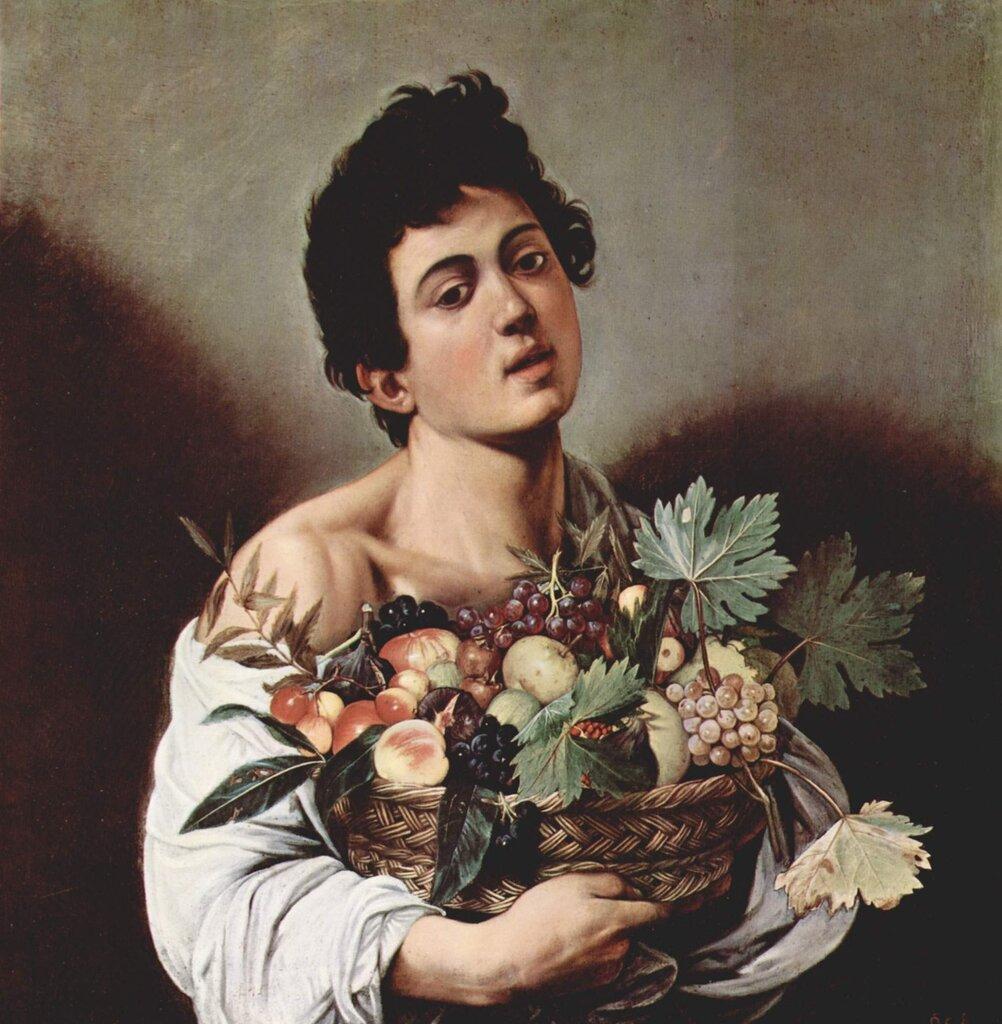 «Юноша с корзиной фруктов» (Галерея Боргезе, Рим);