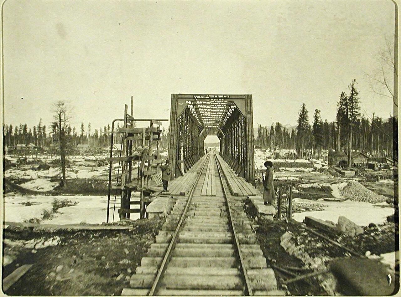 12. Вид железнодорожного моста вблизи станции Мурино