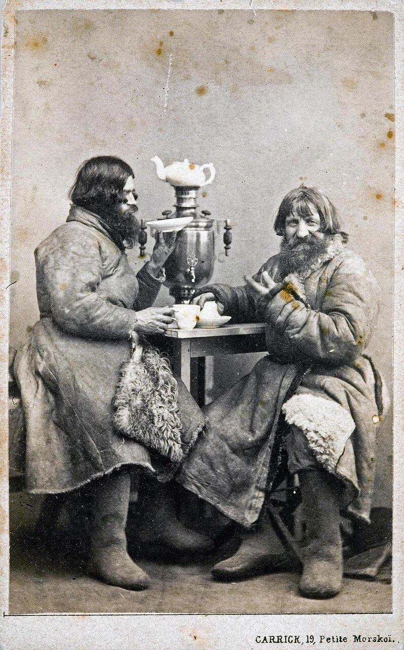 Петербургские извозчики в чайной