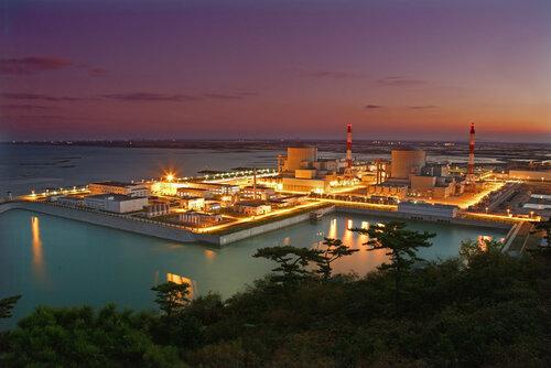 Тяньваньская АЭС ночью