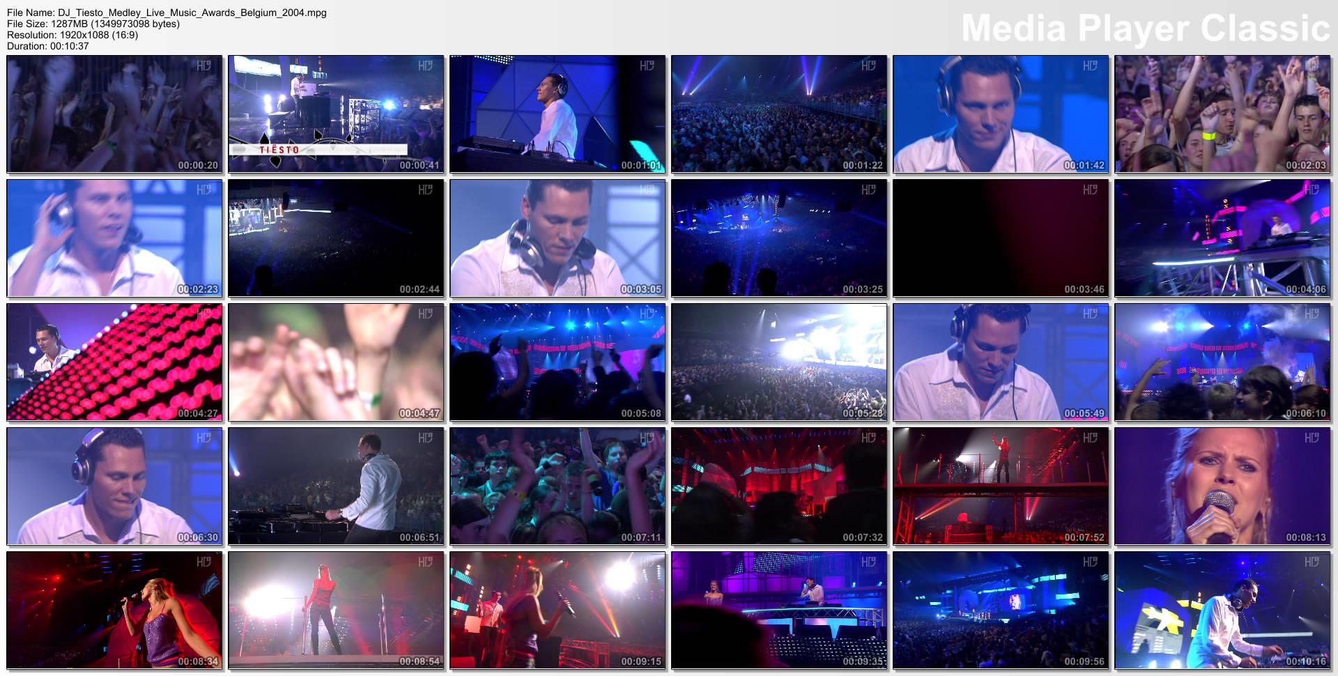 DJ Tiesto - Medley [Live Tmf Music Awards Belgium] ...