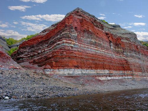 Красные скалы на реке Котуй