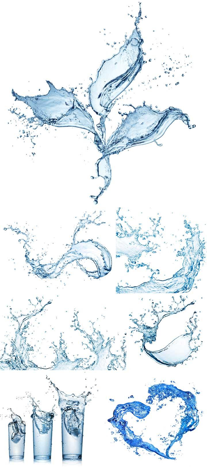 капли и всплески воды