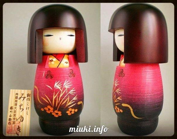 Кокэси - японская деревянная кукла, покрытая росписью
