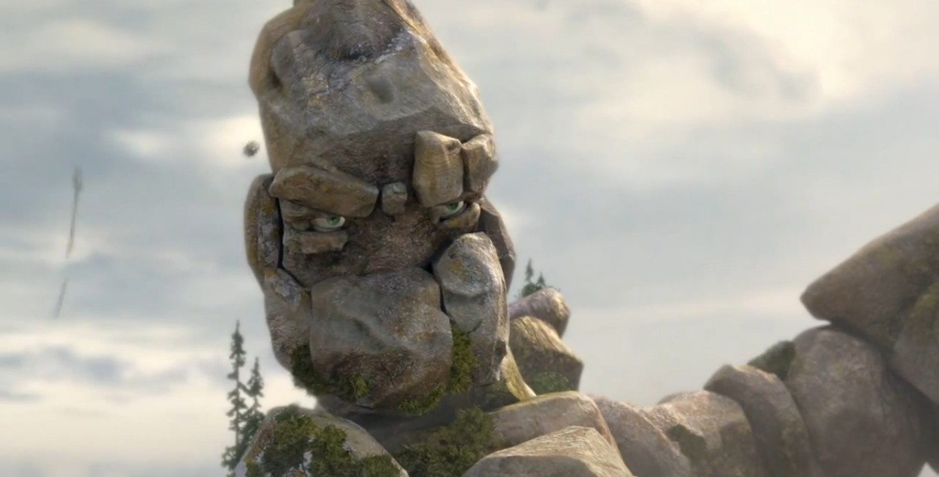 мультфильм про каменного человека и людей скриншот