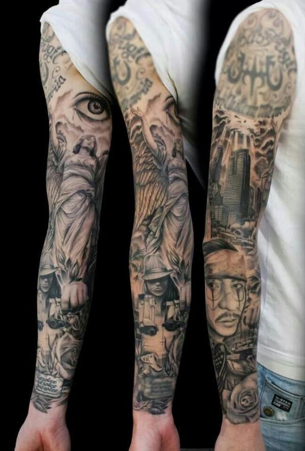 Классные татуировки на плечах и предплечьях рук 0 10ff6e a0d6f57e orig