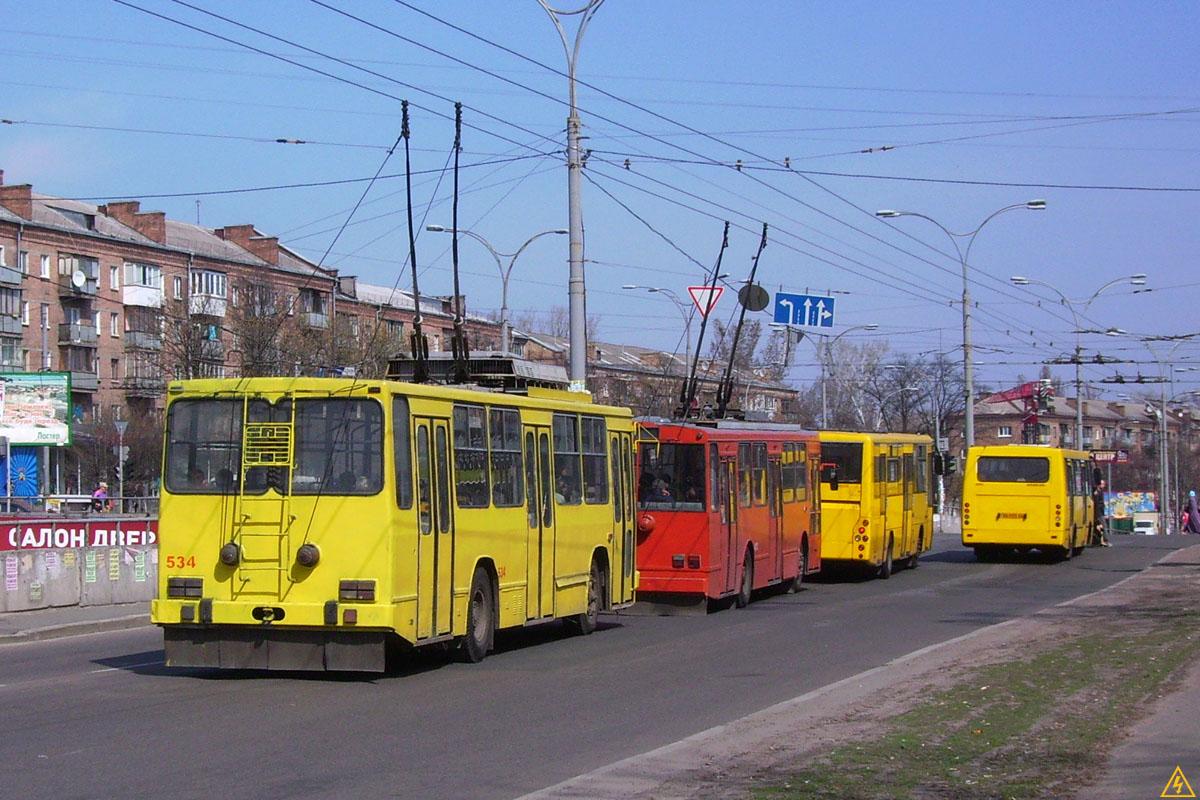 Троллейбусы, которые ездили в Киеве