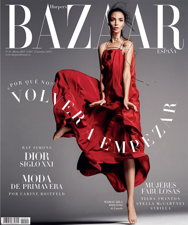 Мариякарла Босконо (Mariacarla Boscono) в журнале Harper's Bazaar Spain