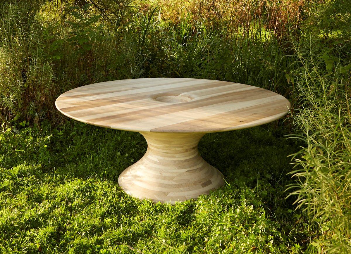 Round Tulipwood Table, American Hardwood Export Council, Benchmark Furniture, лондонский фестиваль дизайна 2014, необычная мебель, эксклюзивная мебель