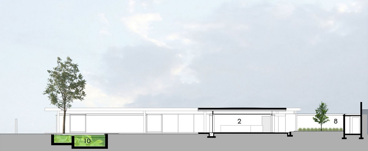 House 02, Йоханнесбурга, дома в ЮАР, особняки в ЮАР, Daffonchio & Associates Architects, обзор одноэтажного дома, обзор особняка, искуственное озеро