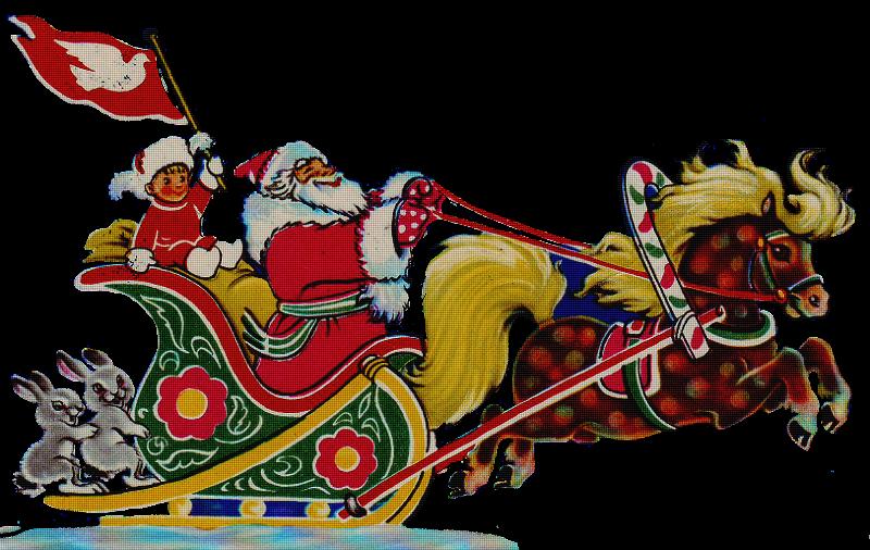 Дед Мороз едет, Дед Мороз мчится