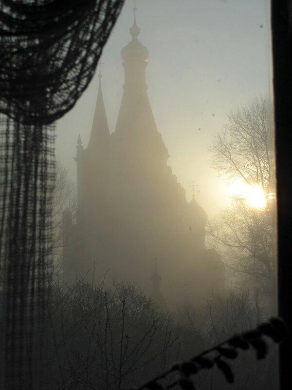 Раннее утро туманное