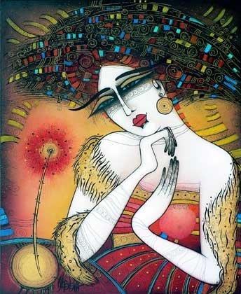 Ты   мой   нежный   и   стройный   цветок так   волнующе страстный,  зовущий. Художник Albena Vatcheva