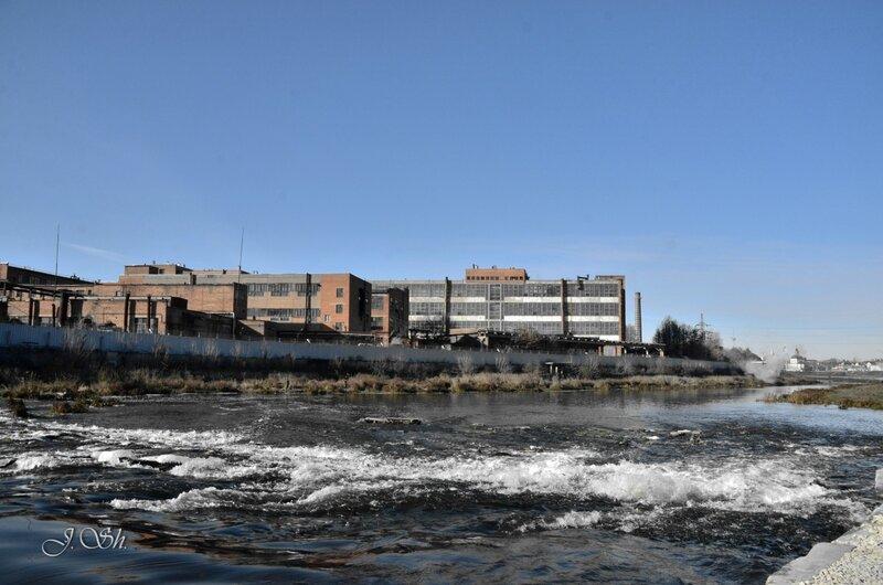 Река Упа немножко бурлит..