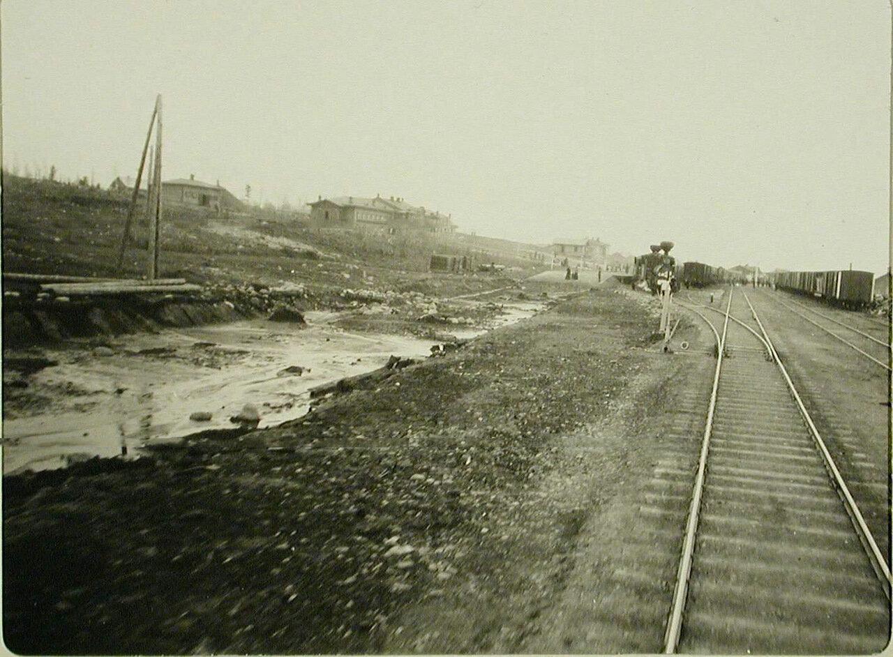 46. Вид железнодорожного полотна на станции Китайский разъзд Забайкальской железной дороги