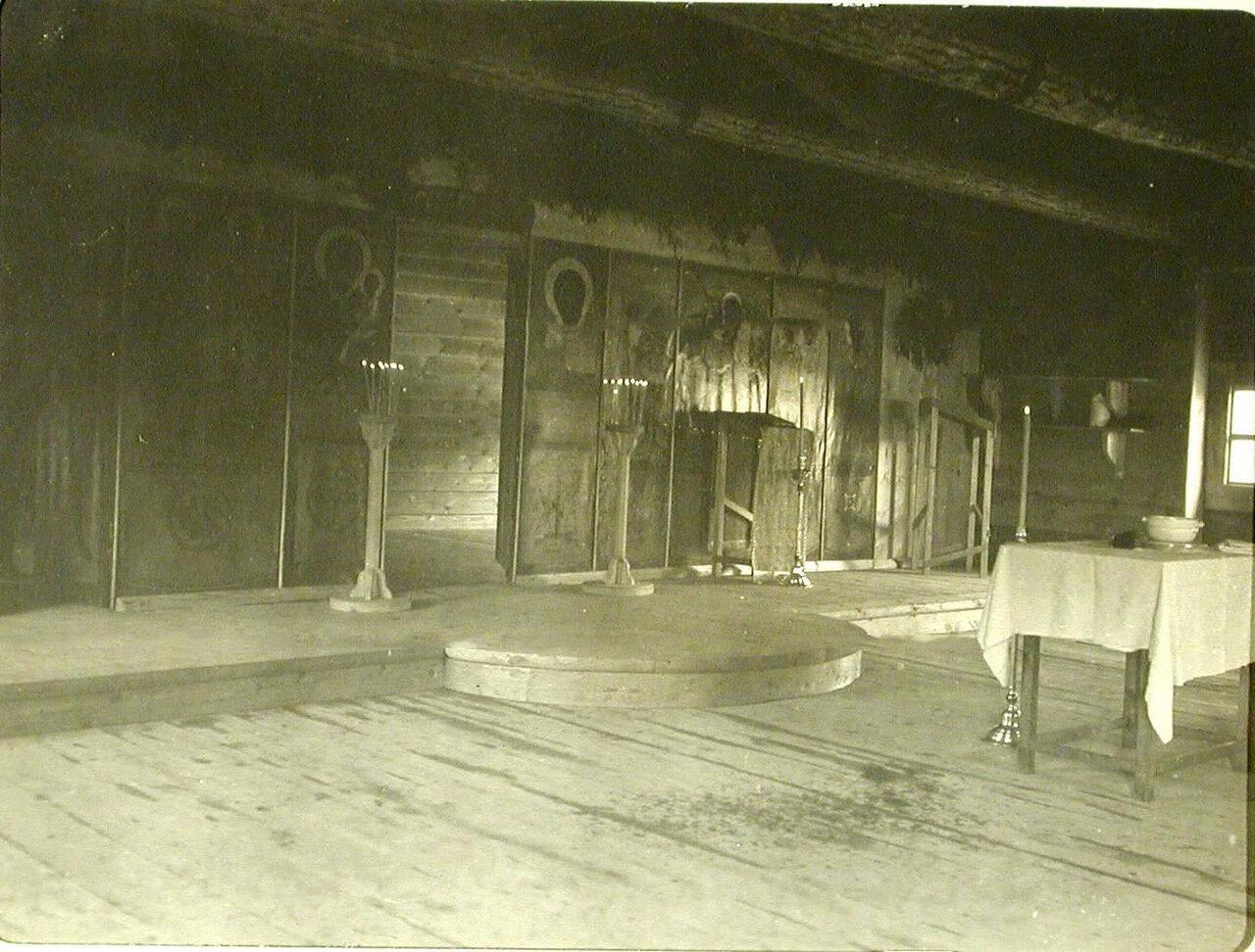 91.Внутренний вид походной церкви великой княгини Елизаветы Федоровны. Забайкальская обл. Танхой