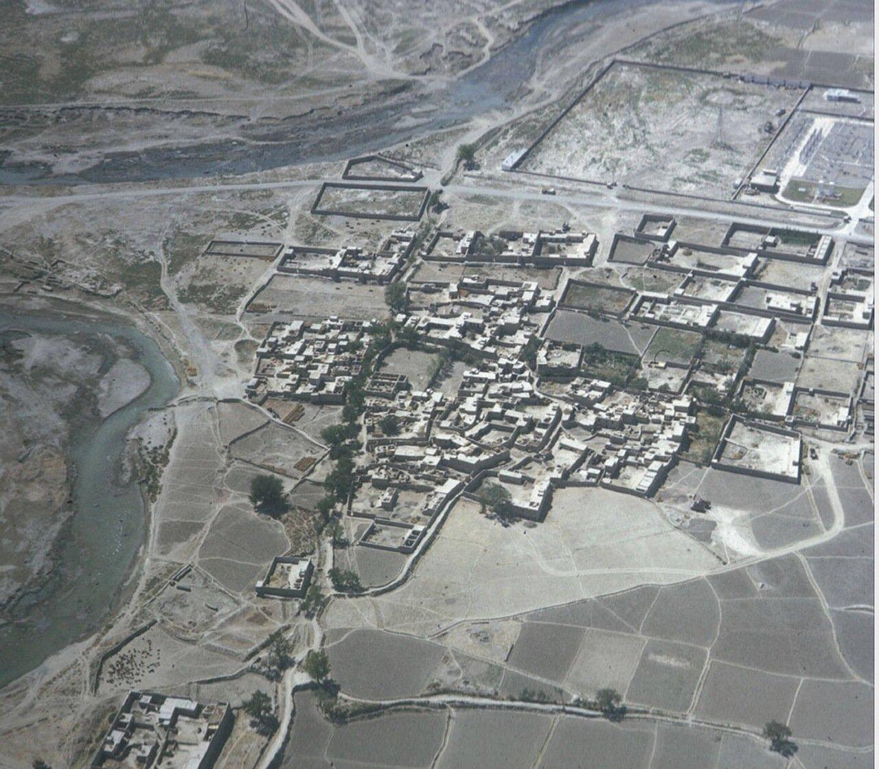 Аэрофотосъемка афганской деревни