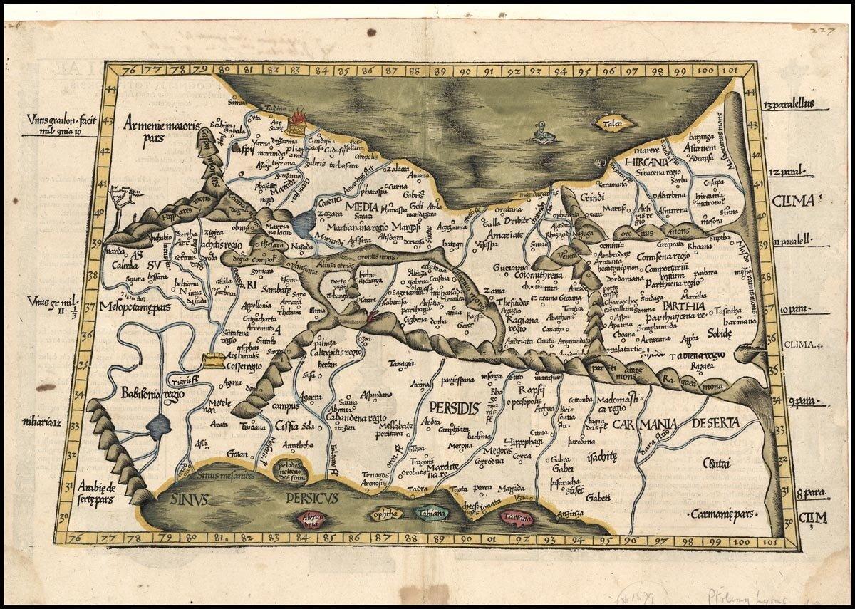 1535. Карта Среднего Востока