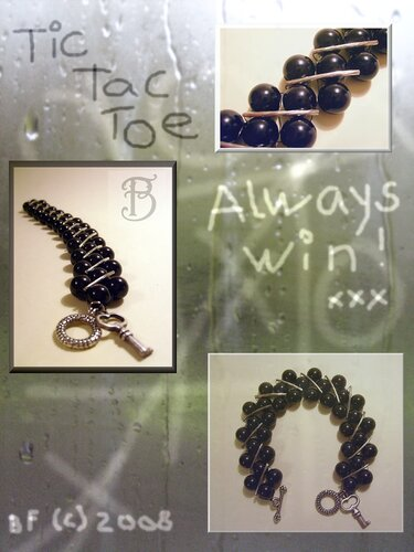 Tic Tac Toe: Always Win Bracelet