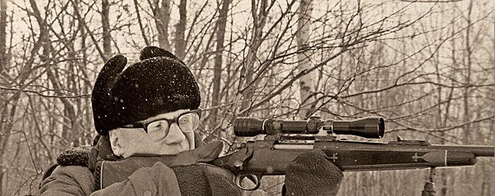 Глава Финляндии Урхо Калева Кекконен на охоте в Подмосковье. 1965 г.Фото В.Егорова