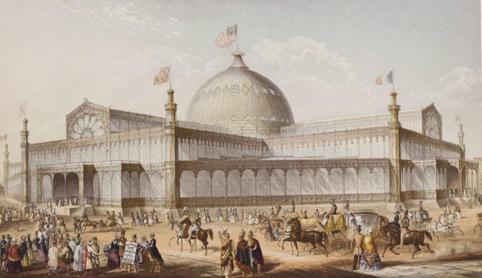 Нью-Йоркский Хрустальный дворец, 1853, Джордж Бакстер (1804-1867).