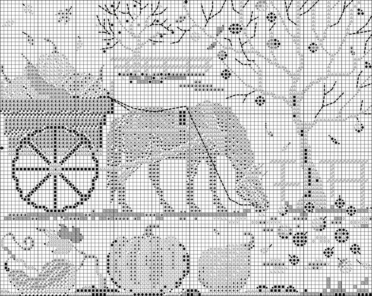 Вышивка схема счастливая лошадка-жизнь будет сладка 62