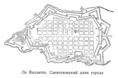 Ла Валлетта, карта