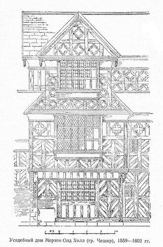 Усадебный дом Мортон Олд Холл в графстве Чешир, фасад