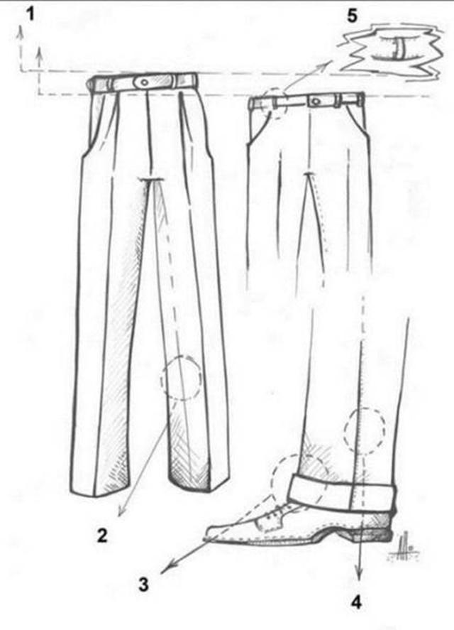 Мужской костюм «в разрезе»