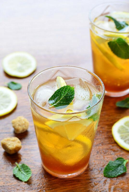 Лимонный черный чай
