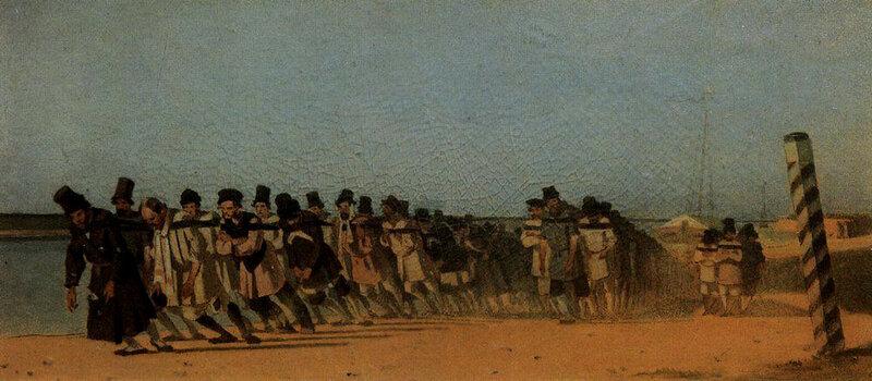 В. Верещагин. Бурлаки на Волге. 1866