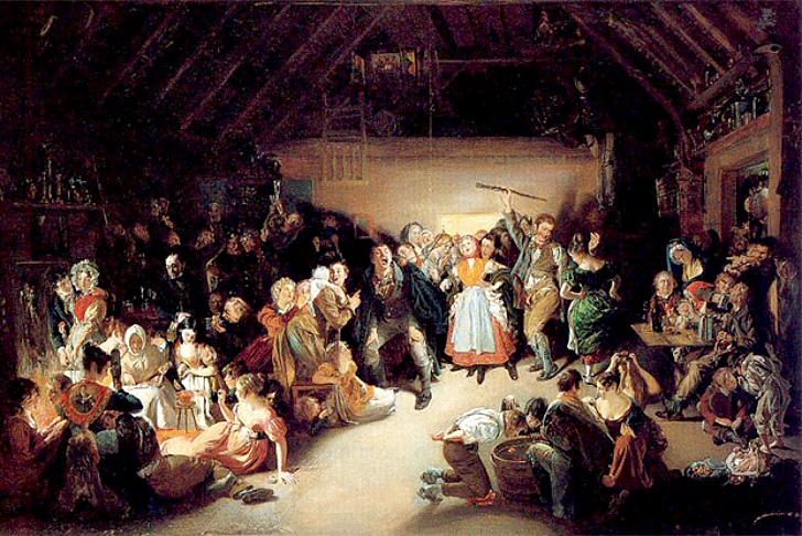 11. В стихотворении Helloween (1785) шотландского поэта Роберта Бернса не упоминаются костюмы, однак
