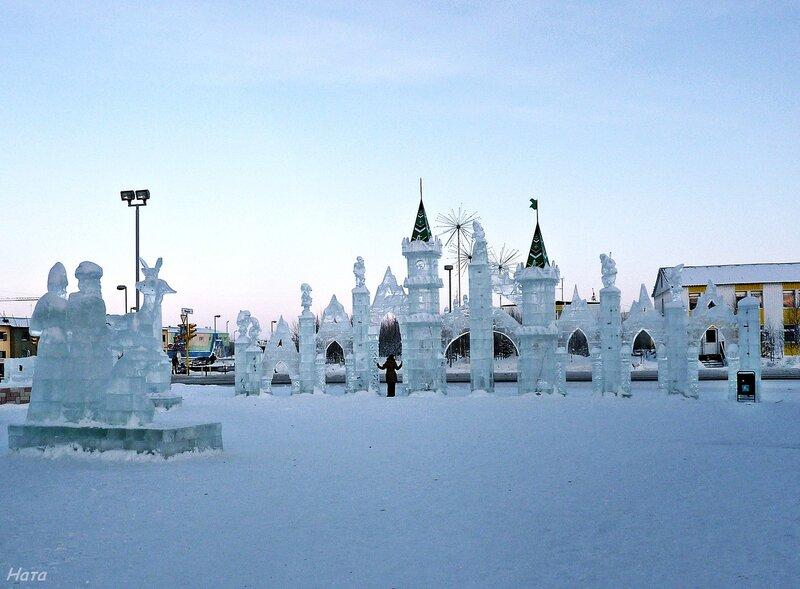 Ледовый городок в г.Губкинский, ЯНАО