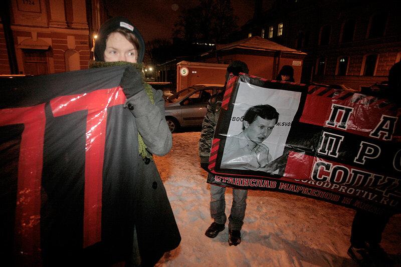 Шествия памяти убитых адвоката Станислава Маркелова и журналистки Анастасии Бабуровой, Санкт-Петербург, 19 января 2012 года