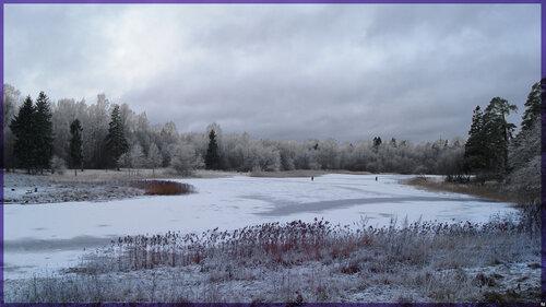 Январский вечер. Филькино озеро