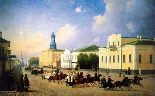 Выезд пожарных Пречистенской части.1850. Неизвестный художник.