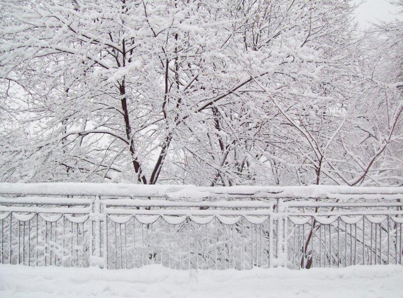 Перила верхней террасы Владимирской горки