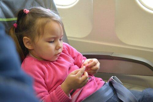 Перелет с ребенком в самолете.
