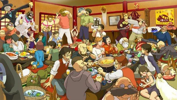 персонажи аниме студии Ghibli
