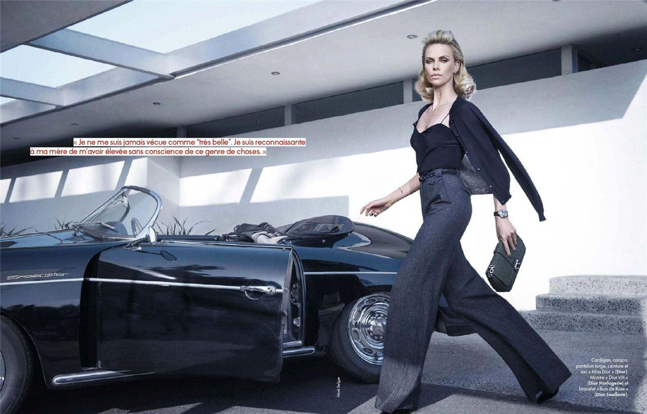 Charlize Theron / Шарлиз Терон, фотограф Mark Seliger в журнале Elle France, январь 2012