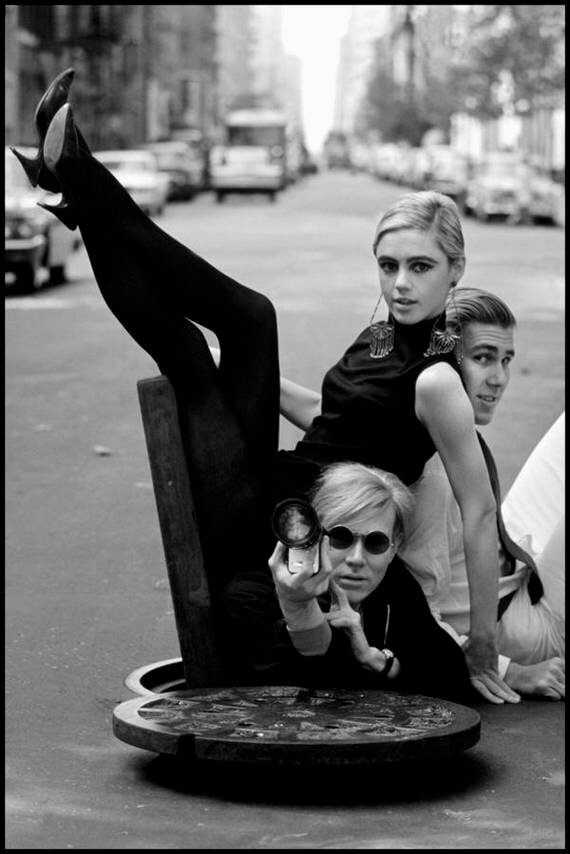New York, New York. 1965. Andy Warhol, Edie Sedgwick and Chuck Wein