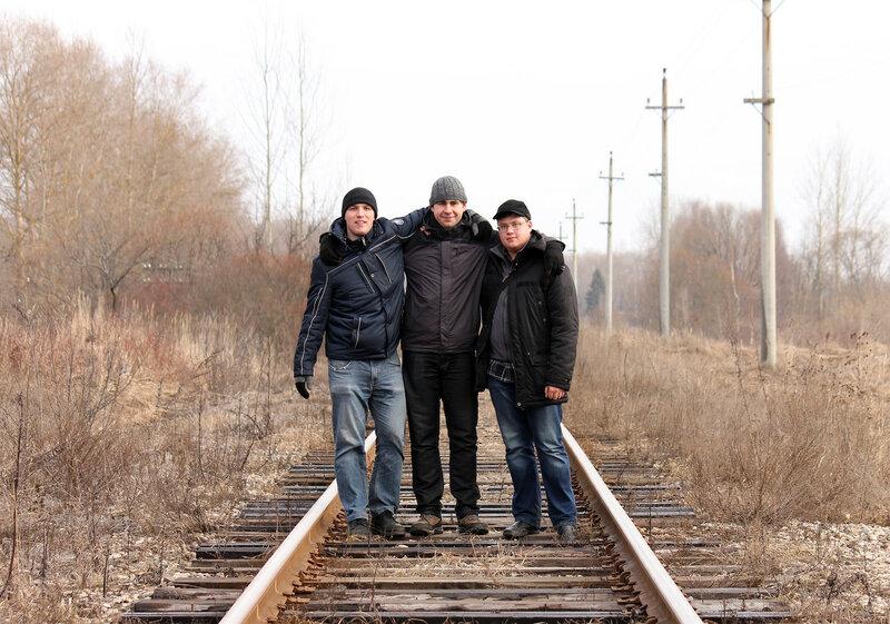 ЖД-фотографы на перегоне Великие Луки - Опухлики