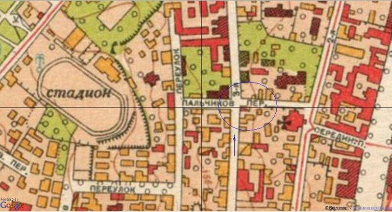 План Москвы 1952 г.